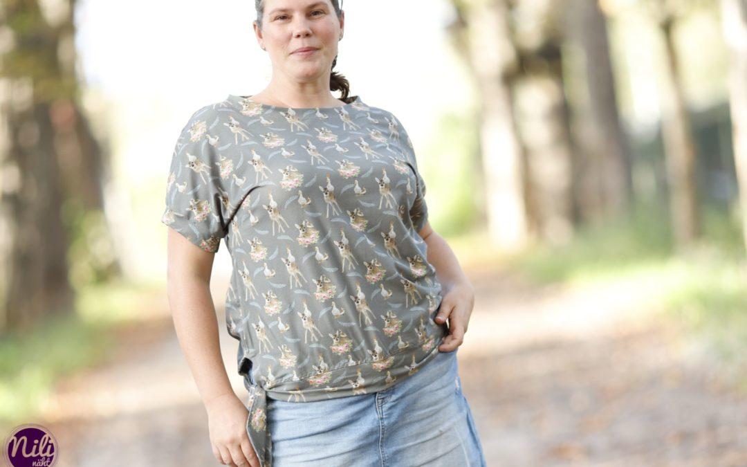Shirt Maritim mit abgewandeltem Saum