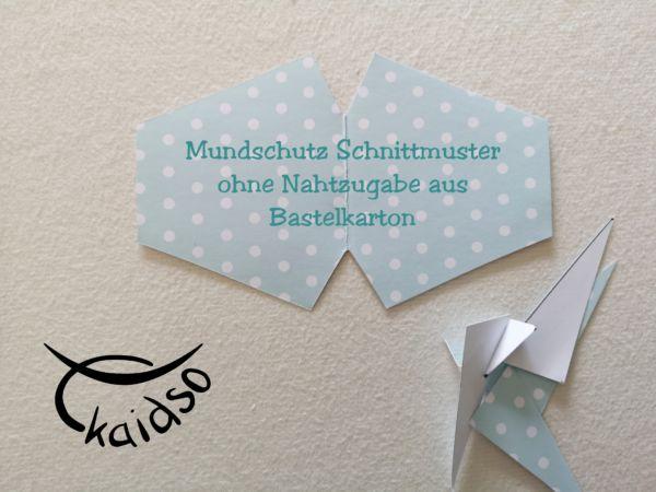Gesichtsmaske Facie Schnittmuster Anleitung Kaidso